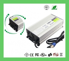 48V10A Aluminum battery charger Lithium EV Battery Charger for sweeper and clean machine