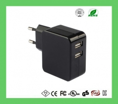 5v3.4a Compact size wholesale dual usb wall charger